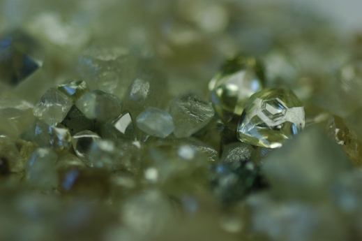 Hexagon pitted diamond in Diamantina (MG, Brazil) parcel