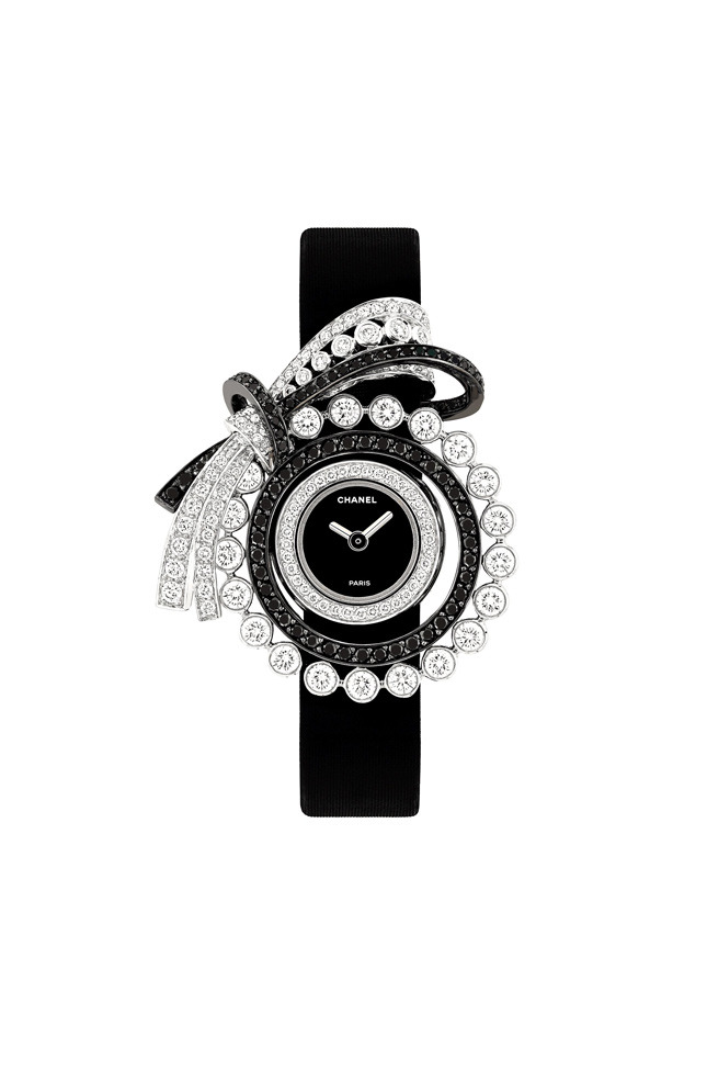 Couture watch, white gold and diamonds