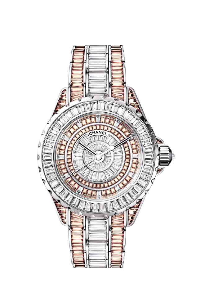 J12 Haute Joaillerie watch, white gold, diamonds, sapphires