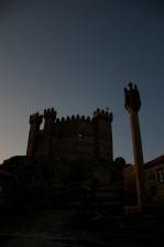 The Penedono castle at dusk