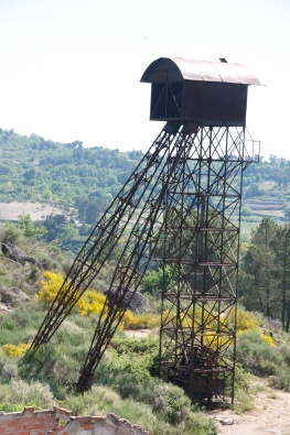 The 1950's Santo António gold mine head frame.