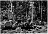 DIAMANG 1960 - A Benoto drill in operation in the viccinity of the Saga river - western bank of the Luembe river