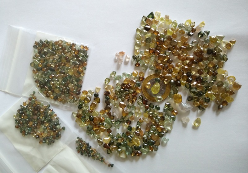 Coloured diamonds from Brazil