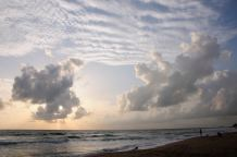 Indian Ocean - Late afternoon at the beach in Bentota