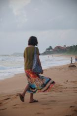 Back to the hotel - Late afternoon at the beach in Bentota