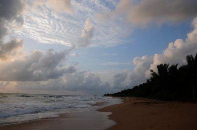 Late afternoon at the beach in Bentota