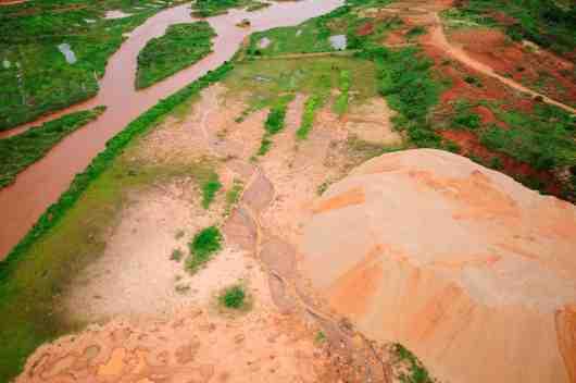Exploited alluvial flood plain - SML works