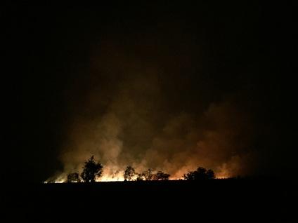 Início da época das queimadas, entre Saurimo e Lucapa (via Luó)